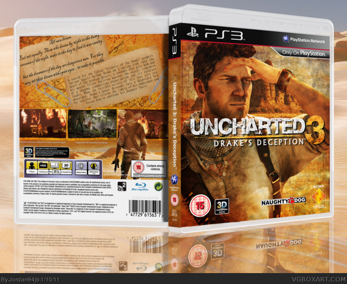 Uncharted 3 Drake S Deception Playstation 3 Box Art Cover By