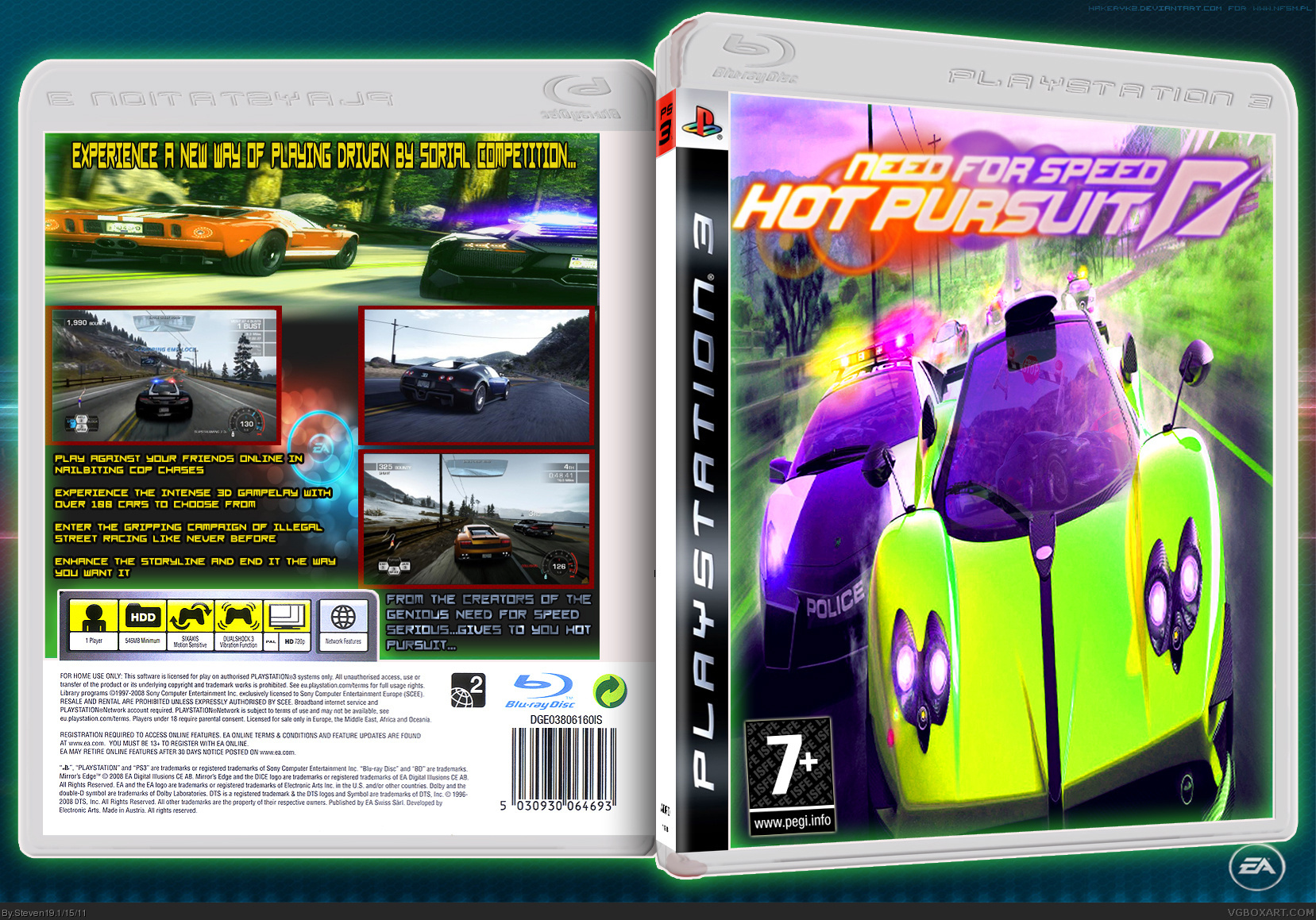 Need For Speed Hot Pursuit Playstation 3 Box Art Cover By Steven19