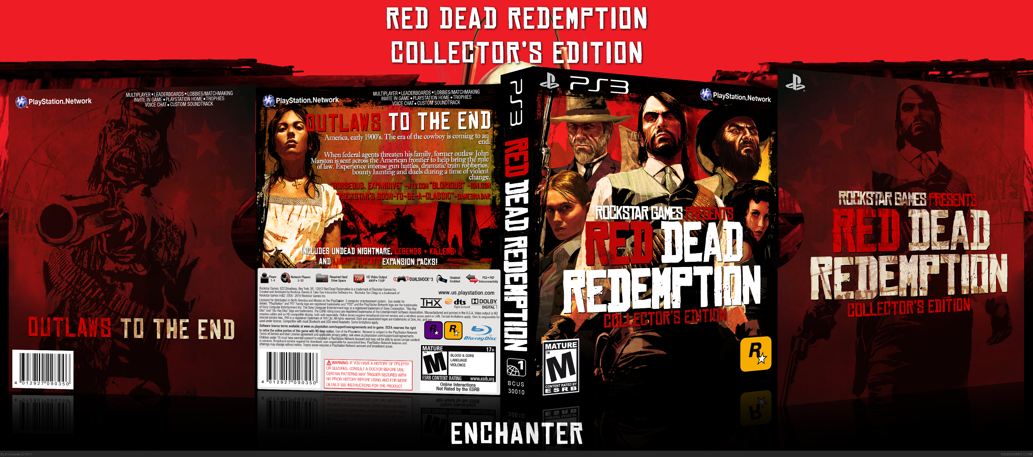 red dead redemption collectors edition playstation 3 box