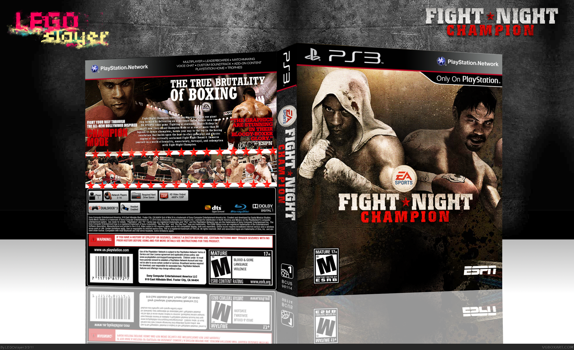 Fight Night Champion Playstation 3 Box Art Cover By Legoslayer