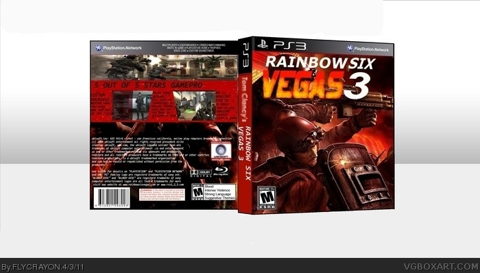tom clancy u0026 39 s rainbow six vegas 3 playstation 3 box art