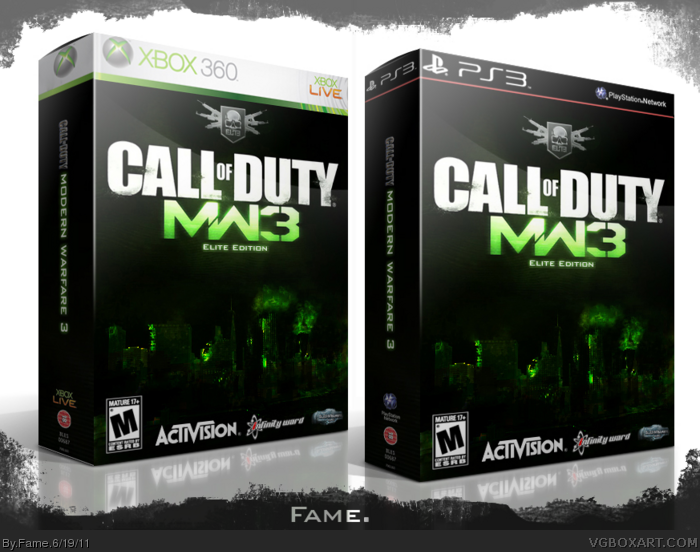 Call Of Duty Modern Warfare 3 Elite Edition Playstation 3 Box Art