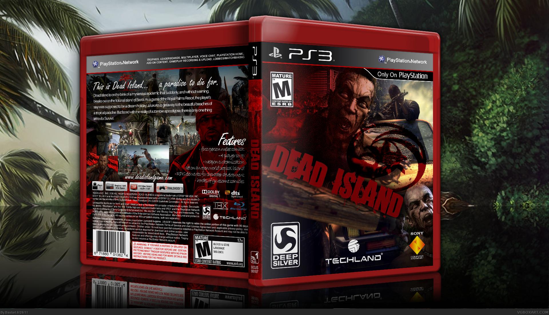 dead island playstation 3 box art cover by bastart