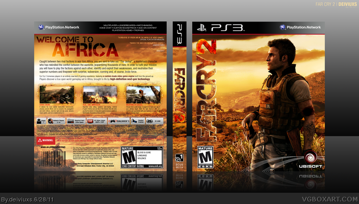 Far Cry 2 Playstation 3 Box Art Cover By Deiviuxs