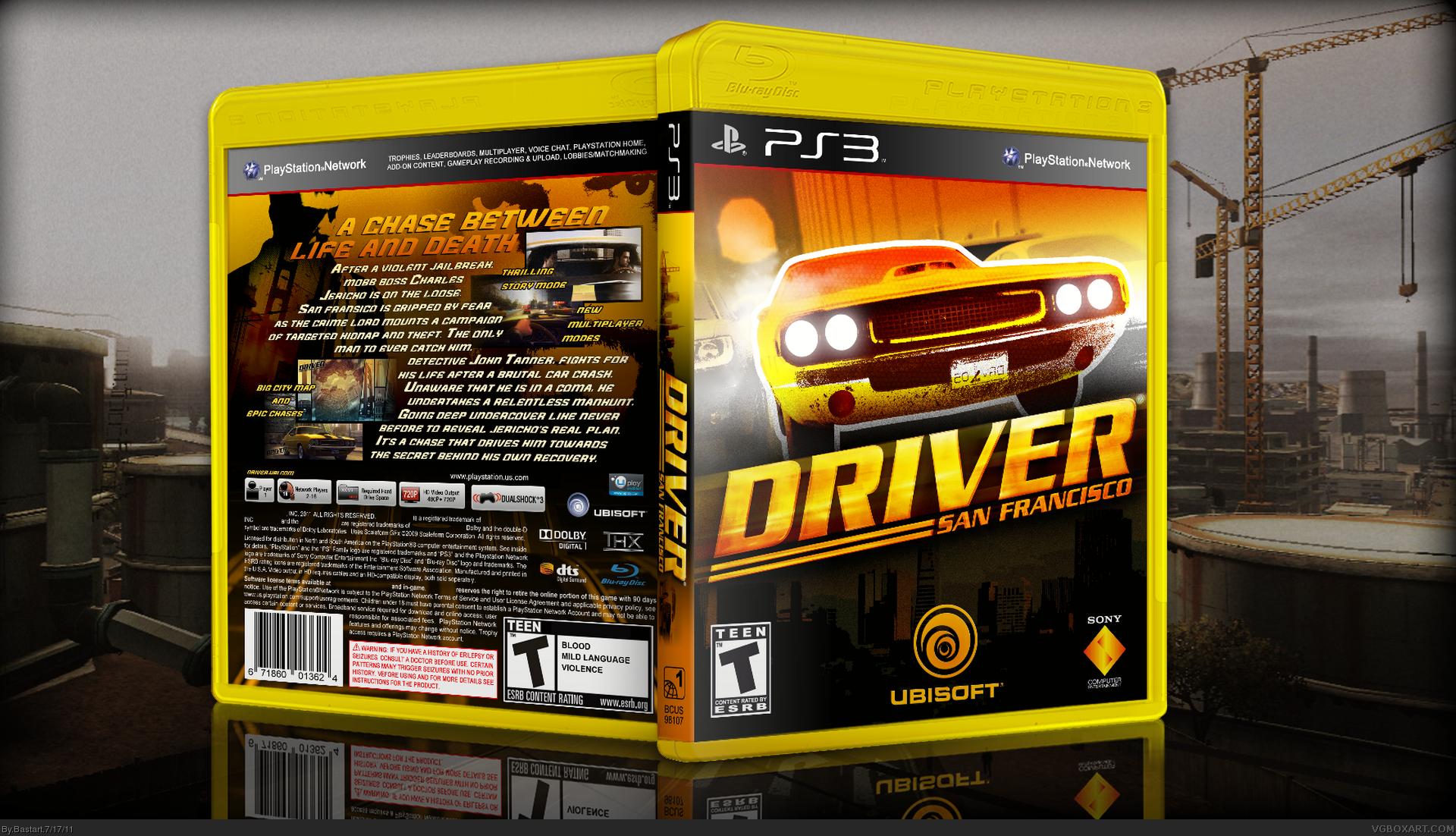 Driver San Francisco Playstation 3 Box Art Cover By Bastart