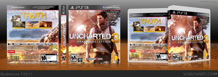 Uncharted 3 Drake S Deception Playstation 3 Box Art Cover By Deiviuxs