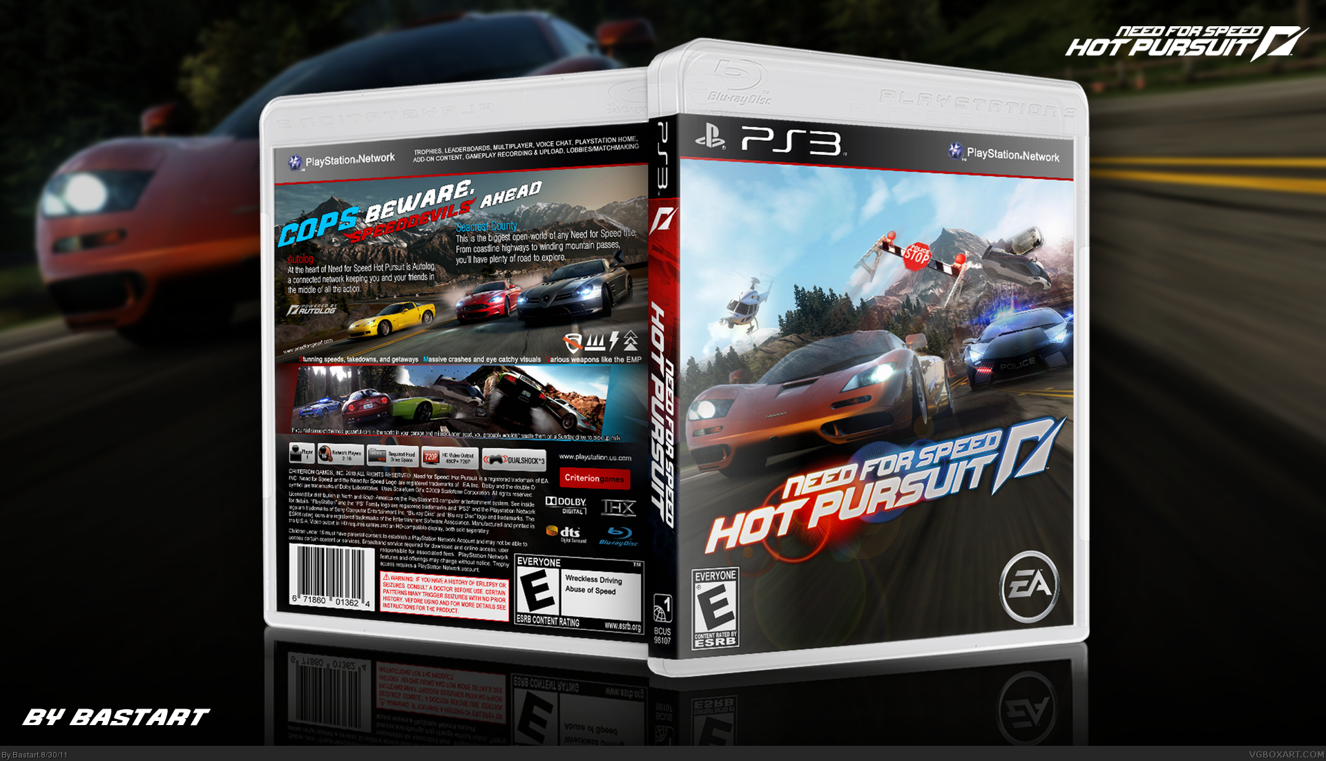 need for speed hot pursuit playstation 3 box art cover by. Black Bedroom Furniture Sets. Home Design Ideas