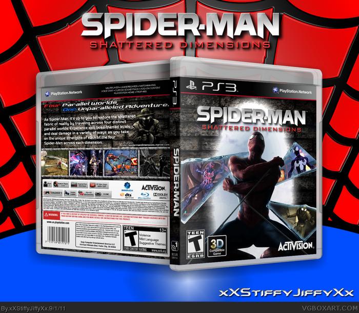 Spider Man Shattered Dimensions Playstation 3 Box Art