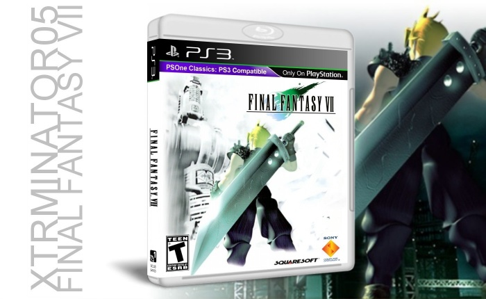 Final Fantasy Vii Playstation 3 Box Art Cover By Xtrminator05