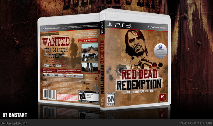 Red Dead Redemption: GOTY Edition PlayStation 3 Box Art