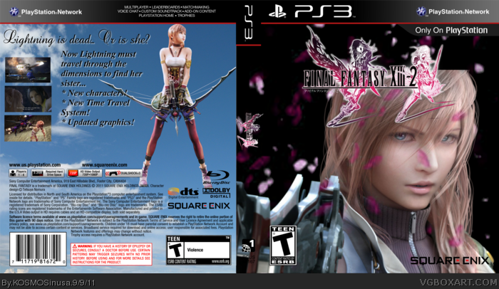 Final Fantasy XIII - 2 PlayStation 3 Box Art Cover by