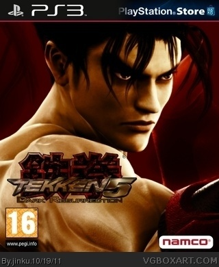 Tekken 5 Dark Resurrection Playstation 3 Box Art Cover By Jinku