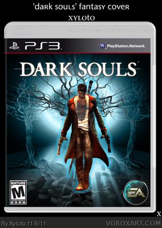 dark souls playstation 3 box art cover by xyloto