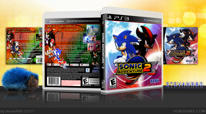 Sonic Adventure 2 PlayStation 3 Box Art Cover by stevanR80