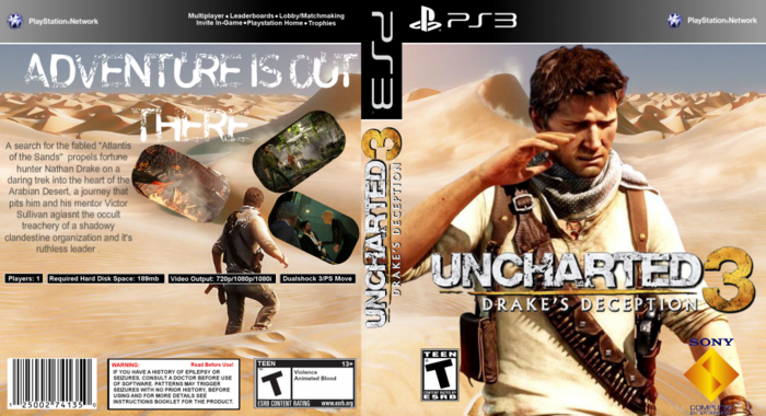 Uncharted 3 Drake S Deception Playstation 3 Box Art Cover By Luigi53