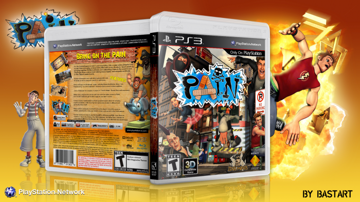 Pain Playstation 3 Box Art Cover By Bastart