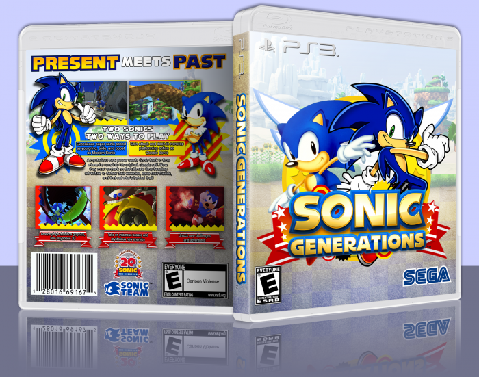 Sonic Generations PlayStation 3 Box Art Cover by ThatGuyKnownAsT