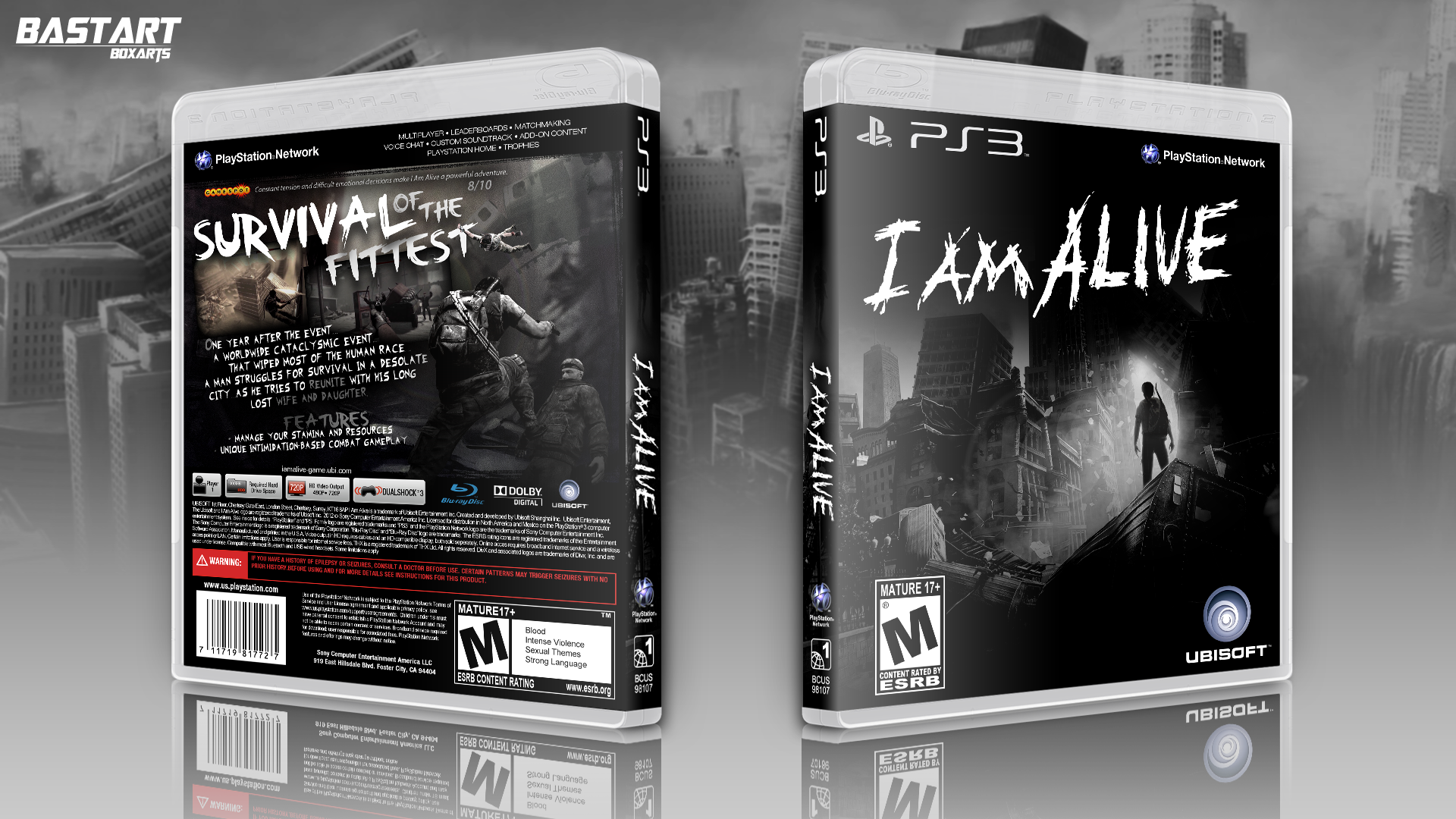 I Am Alive Playstation 3 Box Art Cover By Bastart
