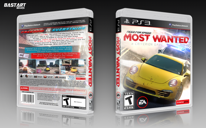 Need For Speed Most Wanted Playstation 3 Box Art Cover By Bastart