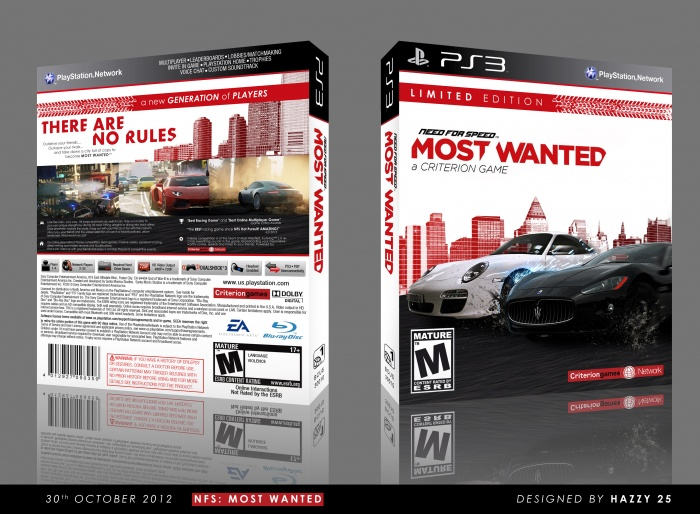 need for speed most wanted playstation 3 box art cover. Black Bedroom Furniture Sets. Home Design Ideas