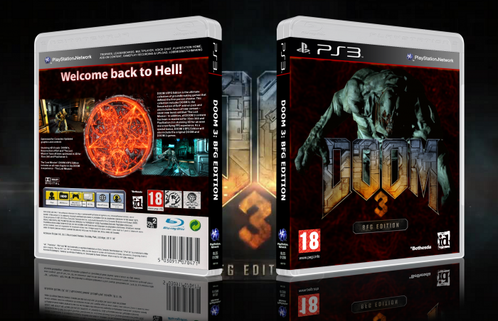 Doom 3: BFG Edition PlayStation 3 Box Art Cover by