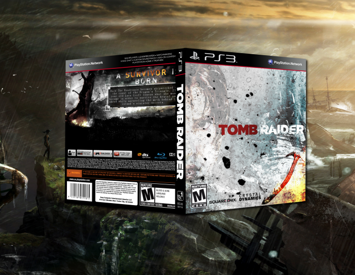 tomb raider 2013 playstation 3 box art cover by trlestew