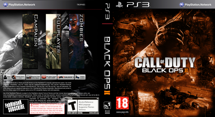Call Of Duty Black Ops 2 PlayStation 3 Box Art Cover by FnhNielseN