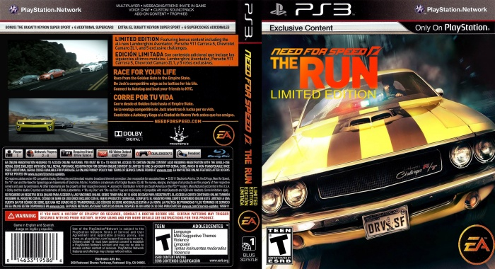 Pics For Need For Speed The Run Ps3