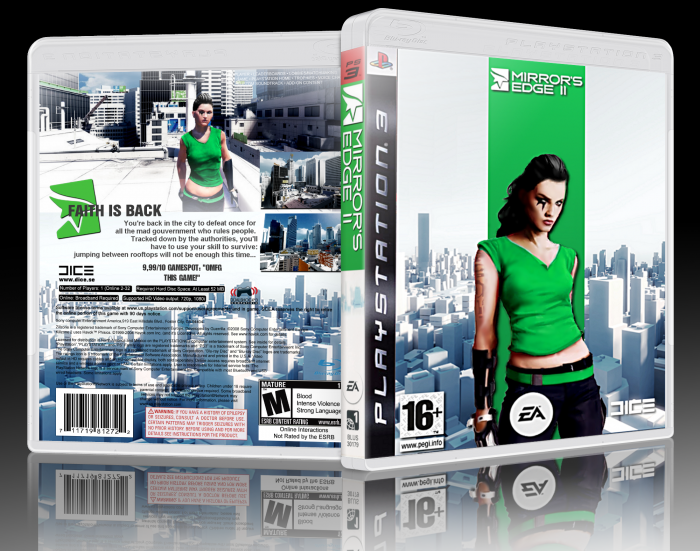Mirror S Edge 2 Playstation 3 Box Art Cover By Hakhasan