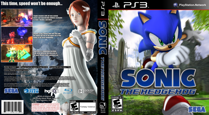 Sonic The Hedgehog 2006 Playstation 3 Box Art Cover By Tehbreezy1