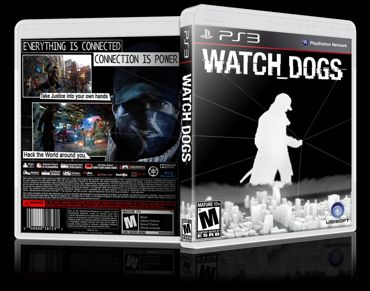 Watch Dogs PlayStation 3 Box Art Cover By Ausman101
