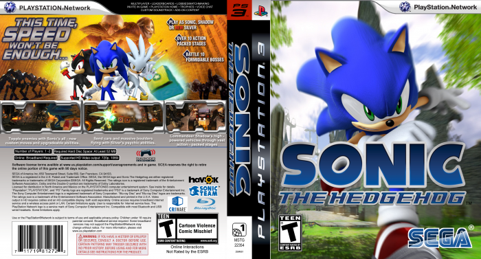 Sonic The Hedgehog 2006 Playstation 3 Box Art Cover By Supersonicfan78