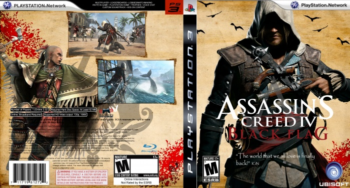 Assassins Creed Iv Black Flag Playstation 3 Box Art Cover By