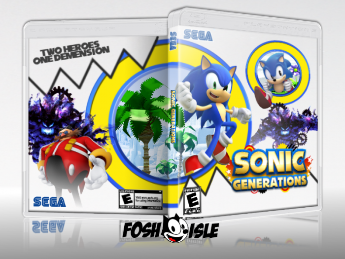 Sonic Generations PlayStation 3 Box Art Cover by Foshisle