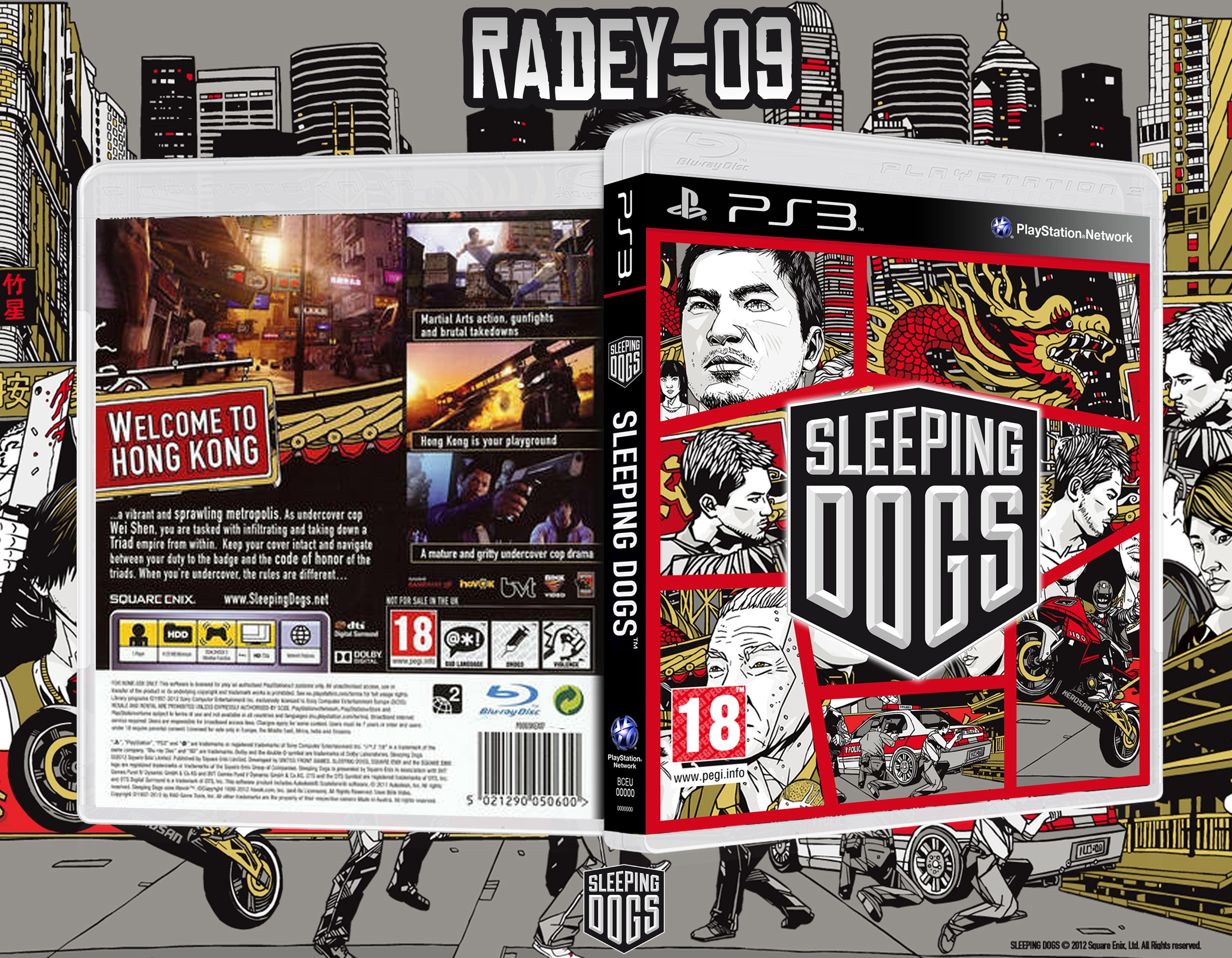Sleeping Dogs PlayStation 3 Box Art Cover by radey-09
