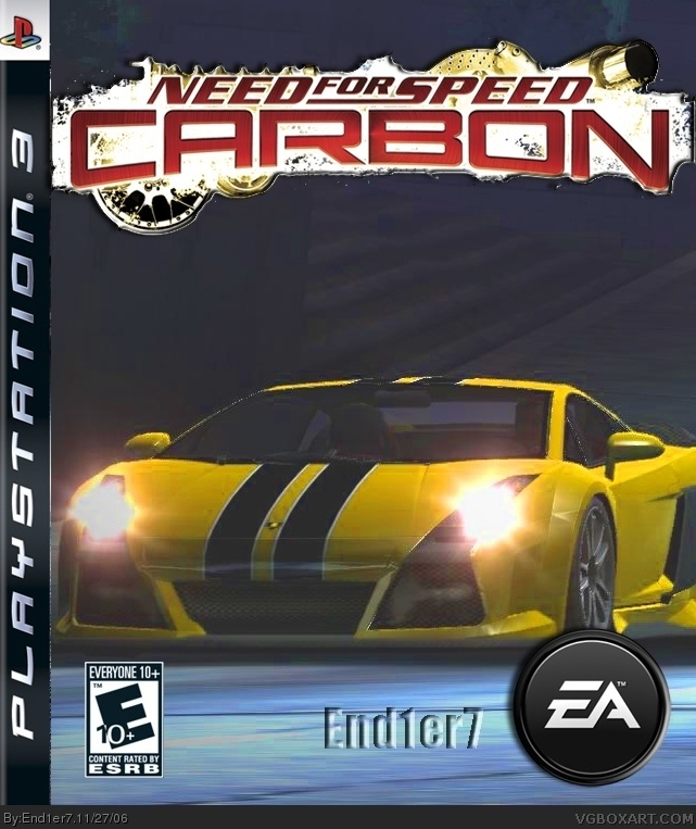 Need For Speed Carbon PlayStation 3 Box Art Cover by End1er7
