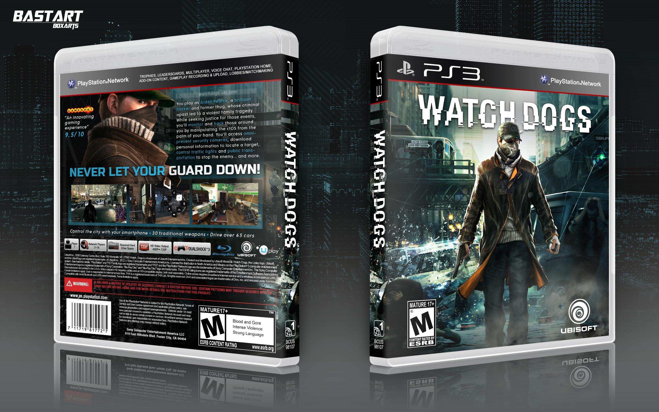 Watch_Dogs PlayStation 3 Box Art Cover by Bastart Watch Dogs Ps4 Box Art