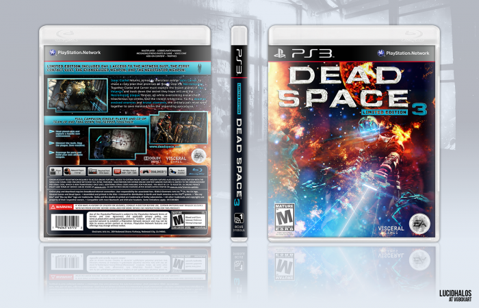 Dead Space 3 Limited Edition Playstation 3 Box Art Cover By