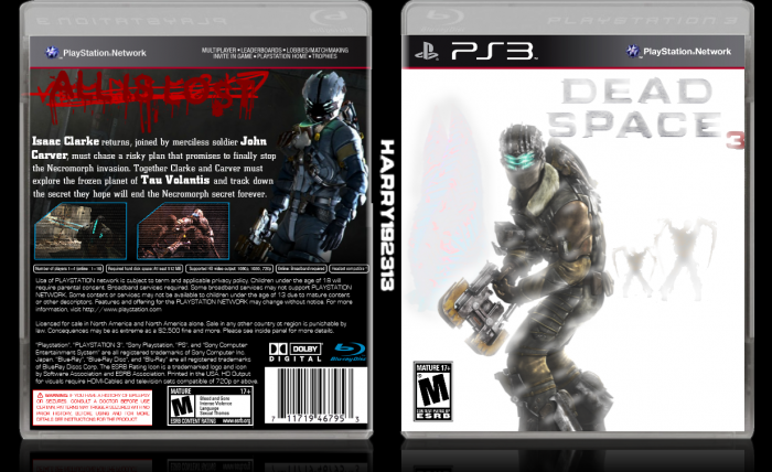Dead Space 3 Playstation 3 Box Art Cover By Harry192313