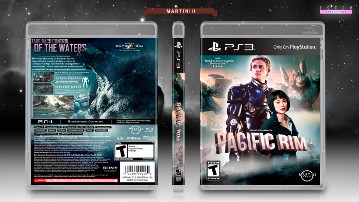 pacific rim playstation 3 box art cover by martiniii332