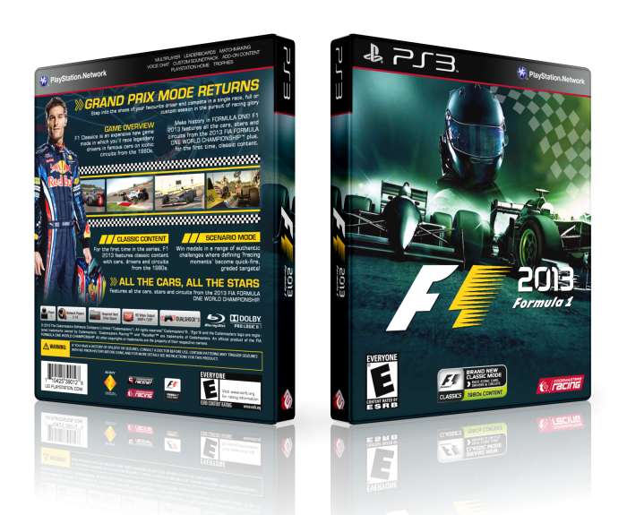 F1 2013 PlayStation 3 Box Art Cover by LastLight