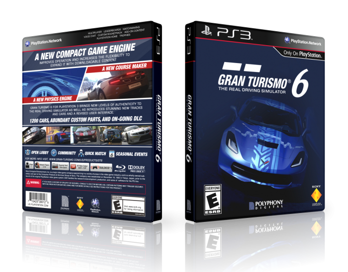 gran turismo 6 playstation 3 box art cover by lastlight. Black Bedroom Furniture Sets. Home Design Ideas