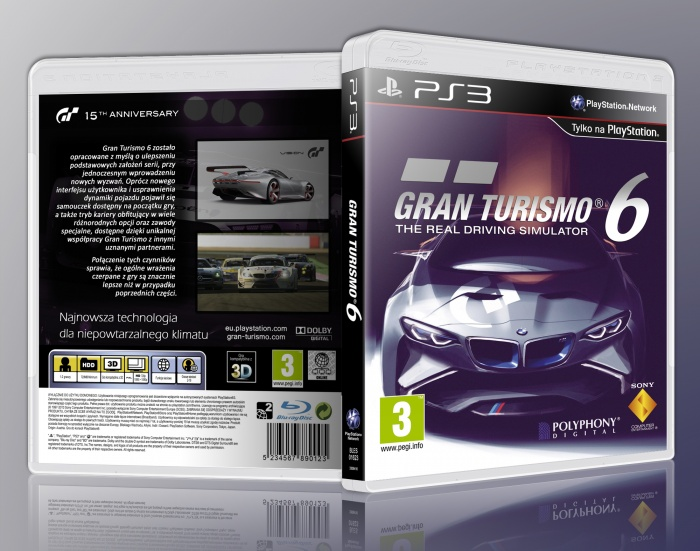 gran turismo 6 playstation 3 box art cover by szejkxx. Black Bedroom Furniture Sets. Home Design Ideas