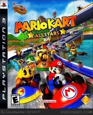 Mario Kart Allstars PlayStation 3 Box Art Cover by Cloudwalker