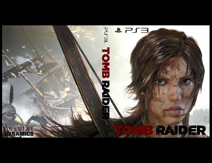 tomb raider 2013 playstation 3 box art cover by simao neto