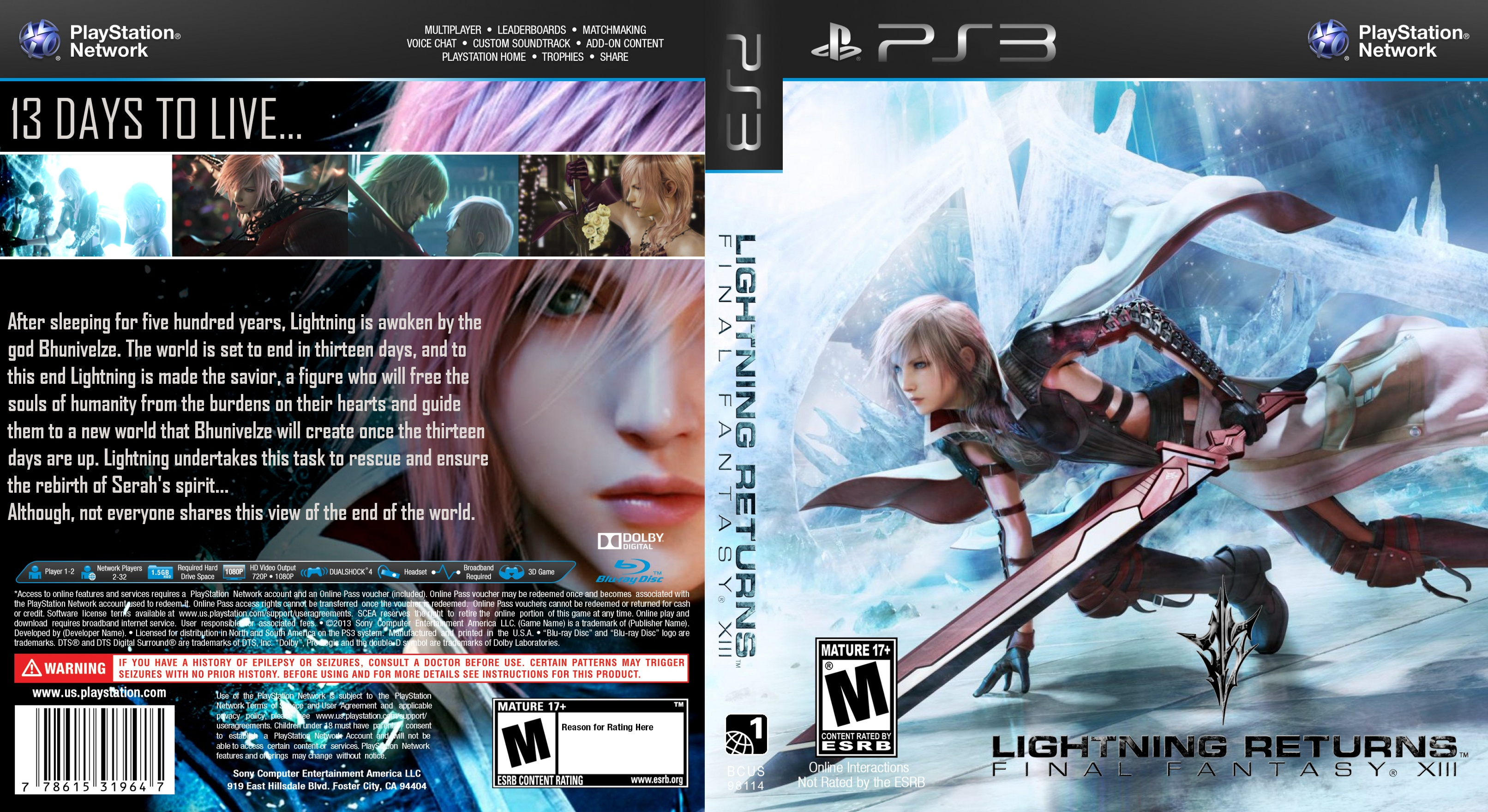 Viewing Full Size Lightning Returns Final Fantasy Xiii Box Cover