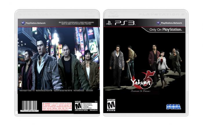Yakuza 5 PlayStation 3 Box Art Cover by Deadlykill