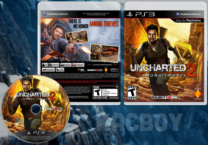 Uncharted 2 Among Thieves Playstation 3 Box Art Cover By Kacboy
