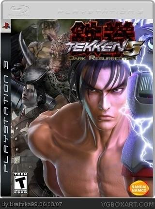 Tekken 5 Dark Resurrection Playstation 3 Box Art Cover By Brettska99
