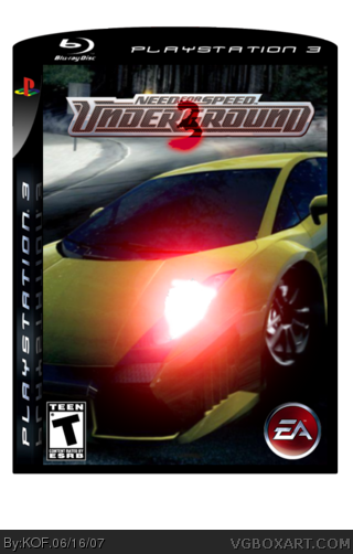 Need For Speed Underground 3 Playstation 3 Box Art Cover By Kof